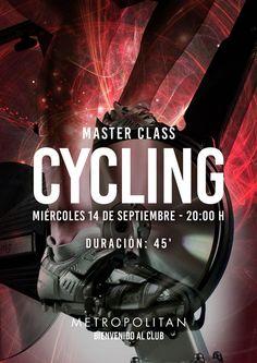 El próximo miércoles, 14 de septiembre a las 20:00 h.,  realizaremos una Master Class de Cycling en Metropolitan Sagrada Familia. ¿Te apuntas?