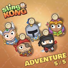 My kong (adventure 5/5) on game Sling Kong 💖 #SlingKong