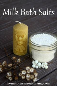 Enjoy a soothing and luxurious bath with these easy and frugal DIY milk bath salts full of healing and skin-softening properties. Diy Milk Bath Salts, Bath Salts Recipe, Epsom Salt Bath, No Salt Recipes, Keto Recipes, Body Butter, Frugal, Bath And Body, Natural Remedies
