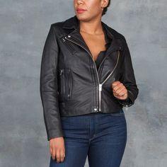 IRO Han Black Leather Moto Jacket