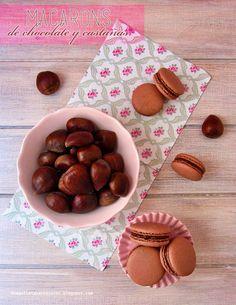 N.M. Galletas Artesanas: Macarons de chocolate y crema de castañas