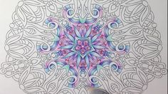 Angie Grace coloring book - coloring with marco raffine pencils - tutorial