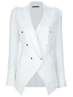 Carly (Cameron Diaz) wears this white hang lose jacket blazer with her Ikat print dress when she and Amber meet her easy going father in Chinatown. The slouchy blazer from French fashion designer label Anthony Vaccarello fits to the scene in the massage restaurant and the brand to her tough role character. Click INSIDER for rare set pics. The blazer is sold out but I've found some perfect alternatives.