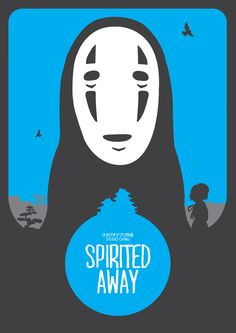 Spirited Away (2001) ~ Minimal Movie Poster by Matt Needle #amusementphile