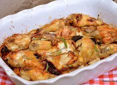 Pui marinat cu usturoi, rozmarin și lămâie – la cuptor Vol Au Vent, Foodies, Shrimp, Cooking Recipes, Dinner, Dining, Chef Recipes, Food Dinners