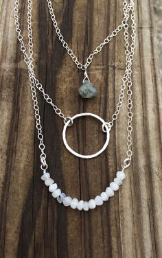 A personal favorite from my Etsy shop https://www.etsy.com/listing/289912737/sterling-silver-fine-silver-necklace