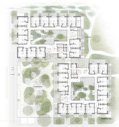 Concept Board Architecture, Architecture Presentation Board, Architecture Panel, Architecture Drawings, Architecture Portfolio, Architecture Details, Landscape Architecture, Landscape Design, Hospital Architecture