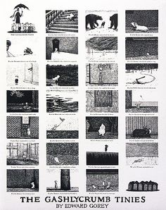 Edward Gorey alphabet poster - we had one, but it was too beat up. Want to find another and frame/hang it!