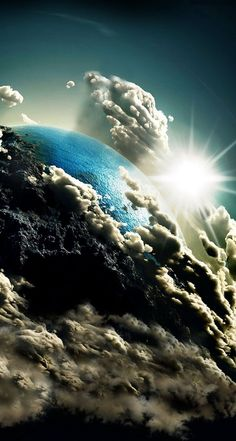 Earth in Clouds is part of Galaxy wallpaper - Wallpaper Earth, Planets Wallpaper, Wallpaper Space, Tumblr Wallpaper, Galaxy Wallpaper, Lock Screen Wallpaper, Wallpaper Animes, Galaxy Images, Earth From Space