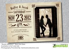 Rustic Western   Save the Date by LukensHagedornDesign on Etsy, $14.50