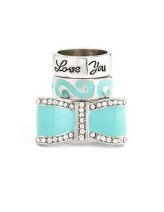 Love You Bow Ring Set: Charlotte Russe