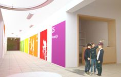 A school interior design on Behance