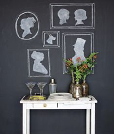 Chalkboard silhouette. I'm all over this.
