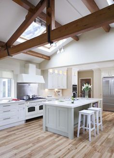 Hand Painted Kitchen With Modern Feel, HERITAGE COLLECTION, Hand Painted, Straight lines, crisp design, fresh modern colours all add to the overal impact of this bespok... - O'Connor Kitchens Kitchen Paint, Kitchen Design, Straight Lines, Modern Colors, Crisp, Kitchens, Hand Painted, Colours, House