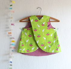 Cross Back Pinafore Perfectly Perched / Toddlers by 464Handmade