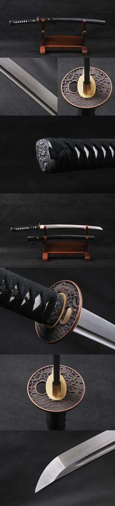 Fully Practical Handmade Japanese Wakizashi Damascus Folded Warrior Sword 833