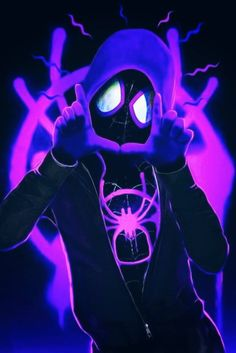 Miles Morales - Ultimate Spider-Man, Into the Spider-Verse Amazing Spiderman, Spiderman Kunst, Spiderman Drawing, Spiderman Spider, Spider Gwen, Wallpaper Animé, Graffiti Wallpaper, Marvel Art, Marvel Heroes