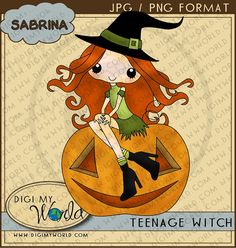 Halloween Witch on pumpkin so cute clipart images for scrapbooking and card  making Cute Clipart 6f7d3116ee07d