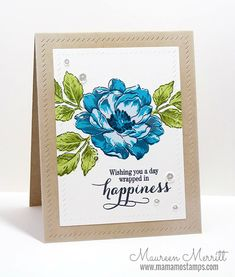 Mama Mo Stamps: Beautiful Day Birthday Card Set
