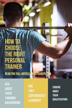 There are many reasons why personal training (PT) can be a fantastic investment. But how do you know you're hiring the right one? What qualities should they possess? Consider the following before hiring a Trainer to make sure you'll get the most from the experience. Click the image to read more
