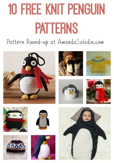 10 Free Knit Penguin Patterns at AmandaSaladin.com