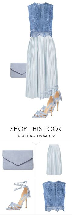 """Blue it up"" by paulina-213 ❤ liked on Polyvore featuring Dorothy Perkins, Topshop and Martha Medeiros"
