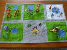 Zoo. Play mat, toys and carry bag set. These are great when taking little ones out places where they need to sit quietly.