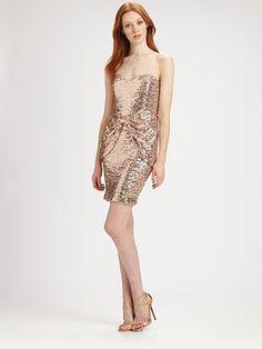 MUST BUY NOW!  Mark + James by Badgley Mischka - Strapless Sequined Mini Dress - Saks.com