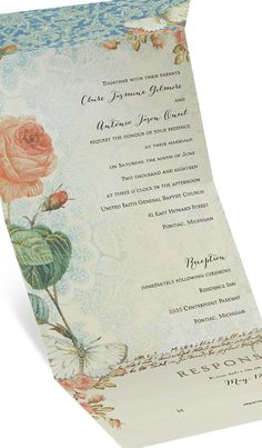 """Anna says - """"Absolutely gorgeous. I was skittish about purchasing it, but upon receiving them I was blow away. The monitor does this item no justice. It was perfect for my """"garden"""" theme wedding. Thank you invitations by dawn. Making me a blushing bride!!!"""" #invitationsbydawn #gardenwedding"""