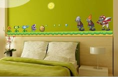 Wall Decals Plants vs Zombies High Quality Removable Vinyl Wall stickers