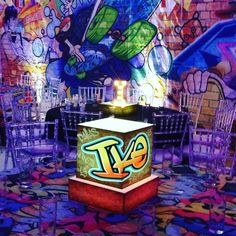 Graffiti Theme Bar Mitzvah Party by RS Event Productions in Dallas, Texas.