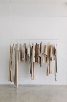 Clean, neutral boutique studio for wardrobe. Product presentation. Blog Milk Blog: Shaina Mote Studio