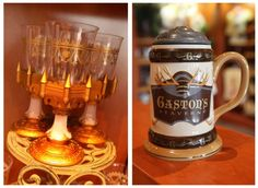 Fun Gaston's Tavern and Beast's Castle Goblet and Cup at Disney World!