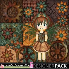New #Steampunk Fairy #Digital Scrapbook kit! http://www.mymemories.com/store/display_product_page?id=SESA-CP-1407-64302&r=syrenasscrapart
