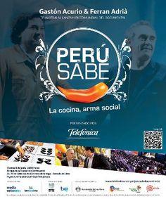 TX 716.P4 P (AV16) Perú sabe [videograbación] : la cocina, arma social / Gastón Acurio & Ferran Adriá te invitan a disfrutar del documental.