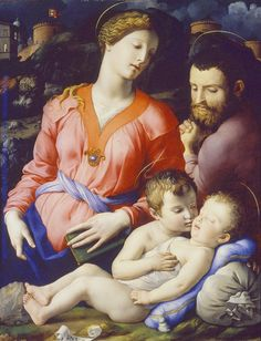 LA SAGRADA FAMILIA CON JUAN EL BAUTISTA . Obra de Bronzino - Holy family