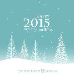 Winter Happy New Year Creative Design Free Vector #vecree #2015 #happynewyear