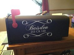 Personalized Mailbox Vinyl Decals by designstudiosigns on Etsy Vinyl Board, Vinyl Wall Art, Vinyl Decals, Wall Decals, Baby Shower Invitations, Birthday Invitations, Great Wedding Gifts, Wedding Stuff, Personalized Mailbox