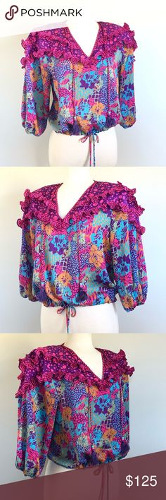 Size small statement blouse by Diane Fries