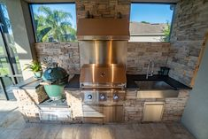 Get to grilling with this spacious outdoor kitchen Perfect Grill, Perfect Place, Outdoor Kitchens, Outdoor Spaces, Building Contractors, Wood Pellets, Grill Master, Backyard Bbq, Sunshine State