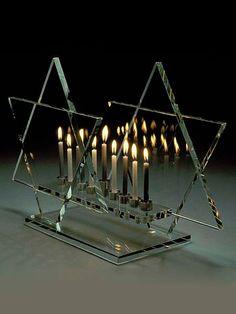 Sidney Hutter, Glass Artist - Menorah / Bet