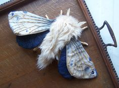 Fabric Art Moth Sculpture by FairFolkCottage on Etsy