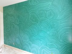 Malachite Faux Finish wall. I've done decorative finishes on my walls but this is something else!