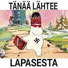 Muumipeikko tänään lähtee lapasesta Best Memes, Funny Memes, Jokes, Moomin, Funny Pictures, Thankful, Comics, Sayings, Happy