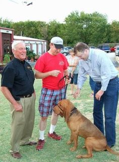 Guests at Yappy Hour  at the Lost Oak Winery Burleson.  Gene gets some puppy love!