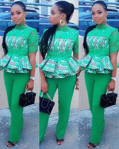 The best collection of 2018 most stylish ankara designs you've been looking for. We have them complete stylish ankara designs 2018 here African Blouses, African Tops, African Dresses For Women, African Attire, African Wear, African Fashion Dresses, African Women, African Outfits, Ankara Fashion