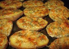 Brambory s česnekem, smetanou a sýrem