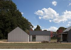Located in regional Victoria, the Blackwood Studio project was designed as two seperate structures positioned around the existing home to create a sense of 'community' between the struc…
