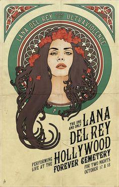 Art Poster Deco - Lana Del Rey Music Star Silk Fabric Print 1763 #PopArt