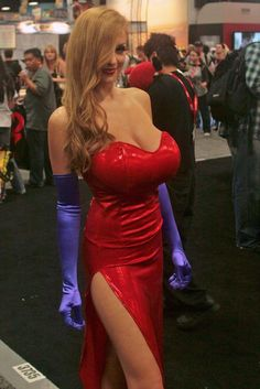 Jessica Rabbit cosplay. Jordan Carver - mammalian protuberances extravaganza